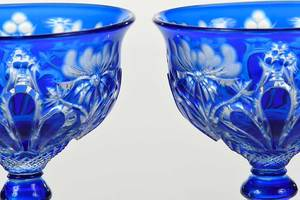 Pair Stevens and Williams Cobalt to Clear Stems