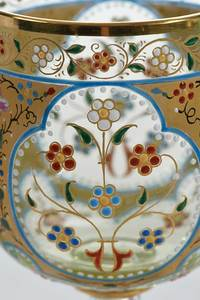 Five Enamel Decorated Small Stems