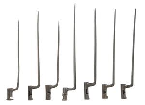 Seven American Socket Bayonets