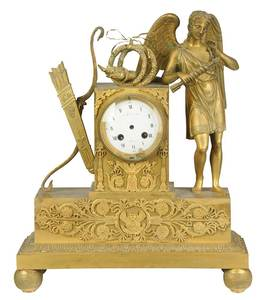 Tiffany & Co. Gilt Bronze Mantel Clock