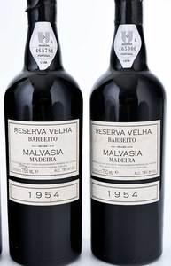 Four Vintage Bottles Fine Barbeito Malvasia Reserva Velha Madeira