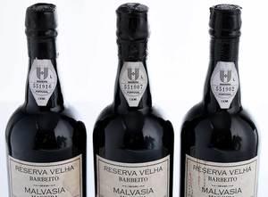 Three Bottles Fine 1834 Barbeito Malvasia Reserva Velhas Madeira