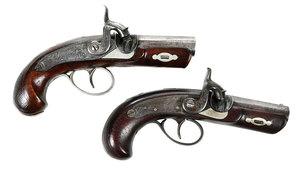 Two Gillespie Derringer Pistols