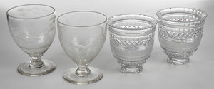 Two Pair Crystal Table Urns, Baccarat