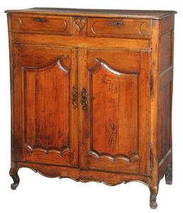 Provincial Louis XV Carved Fruitwood Cupboard