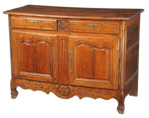 Provincial Louis XV Carved Walnut Server