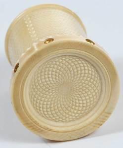 Daniel Brush Gold Turned Snuff Bottle