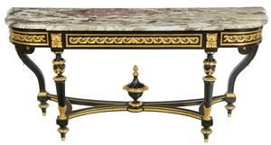 Fine Louis XVI Style Marble-Top Console