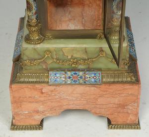 Ormolu, Champlevé, Marble, Onyx Vitrine Clock