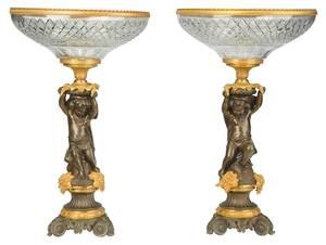 Pair Louis Philippe Style Gilt Bronze Tazzas