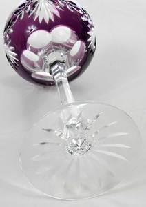 Set Eight Cut to Clear Glass Wine Hocks