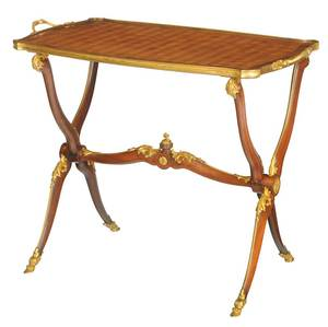 Fine Louis XV Style Gilt Bronze-Mounted Table