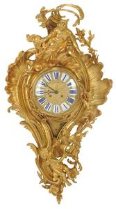 Louis XV Style Gilt Bronze Cartel Clock