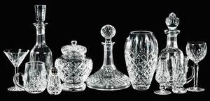 Group 45 Pieces Waterford Cut Glassware