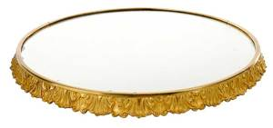 Gilt Bronze Plateau Mirror