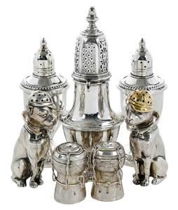 Seven Silver Casters, Figural