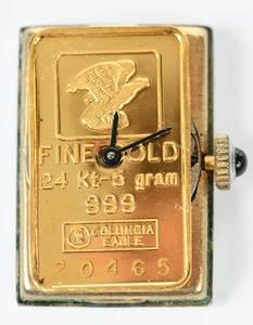 Three Pieces Fine Gold Bar Jewelry