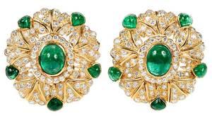 18kt. Emerald & Diamond Earrings