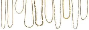 Ten 14kt. Gold Chains