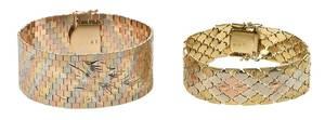 Two 14kt. Tri-Color Gold Bracelets