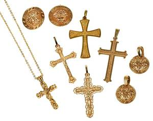 16 Pieces Assorted Gold Jewelry