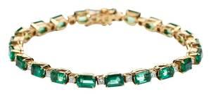 18kt. Emerald & Diamond Bracelet