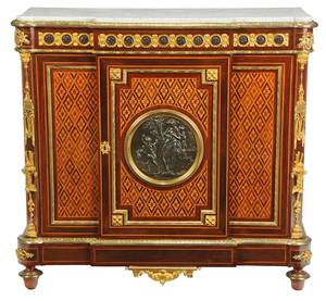 Louis Philippe Inlaid and Bronze-Mounted Cabinet