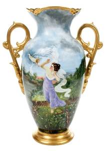 Signed Hand Painted Limoges Vase