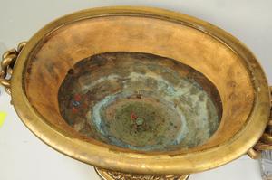 Neoclassical Style Gilt Bronze Center Urn