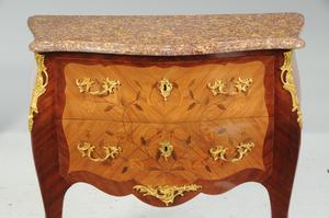 Fine Louis XV Style Ormolu-Mounted Commode