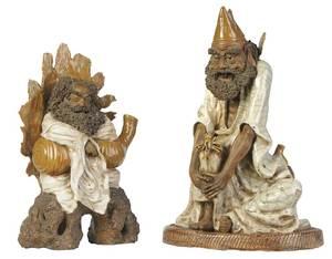 Two Shiwan Pottery Figures of Li Tieguai