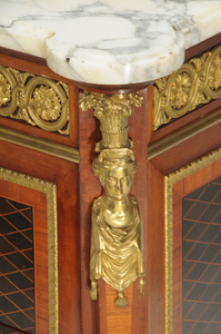Louis XVI Style Marble-Top Three-Drawer Commode