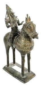 Bronze Mongolian Warrior on Horseback