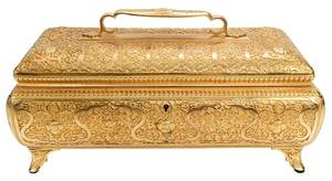Gilt Bronze Arabesque Designed Box