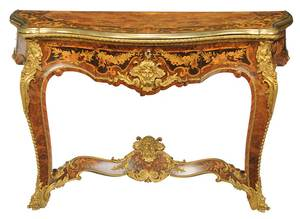 Louis XV Style Marquetry, Bronze-Mounted Console
