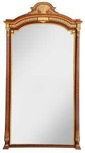 Impressive Louis XVI Style Bronze Mounted Mirror