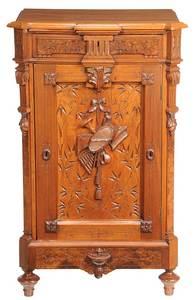 Aesthetic Movement Walnut Music Cabinet
