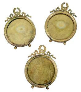 50 French Round Bronze Frames