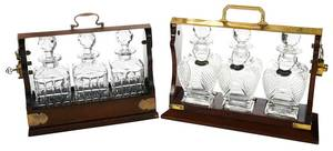 Two Tantalus Decanter Sets