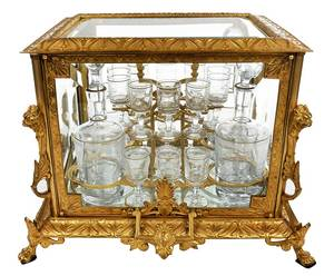 Fine French Gilt Bronze and Glass Tantalus