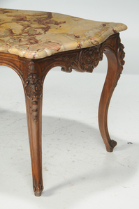 Provincial Louis XV Style Marble-Top Table