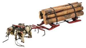 American Folk Model of a Logging Sleigh