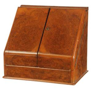 Regency Burlwood Traveling Desk