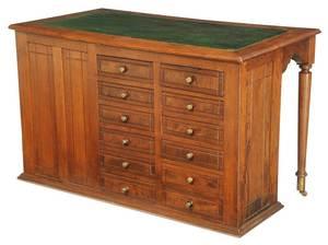 Victorian Walnut 24-Drawer Desk