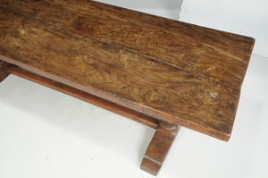 Jacobean Style Carved Trestle Table