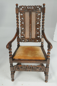 Set Eight Jacobean Style Dining Chairs