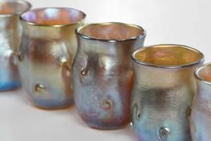 Six Tiffany Favrile Toothpick Holders