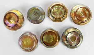Seven Tiffany Favrile Salts