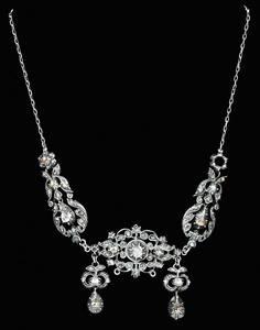 Antique Silver & Diamond Necklace