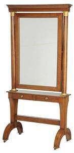 Empire Style Mahogany Cheval Mirror